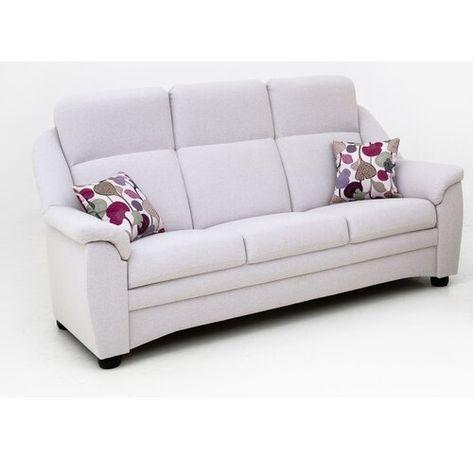 3-Sitzer Sofa Walters Ebern Designs Polsterfarbe: Linoso - Braun leicht
