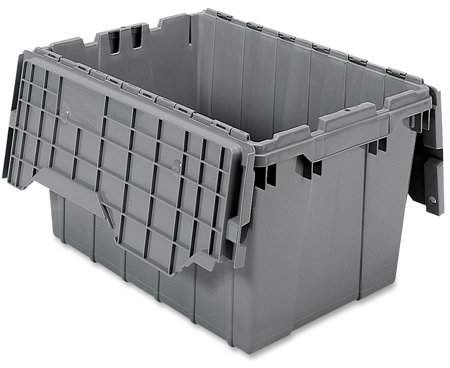 Akro Mils 12 Gal Attached Lid Container Walmart Com In 2020 Plastic Storage Totes Plastic Container Storage Lidded Container
