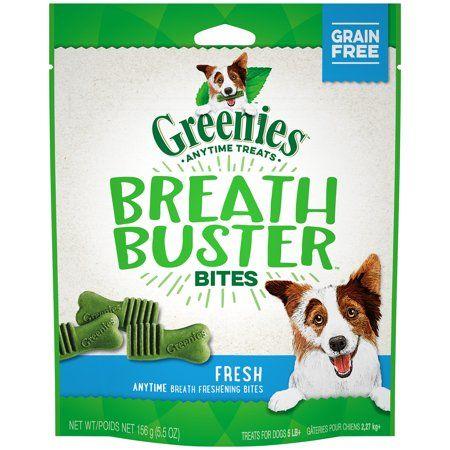 Greenies Breath Buster Bites Treats For Dogs Fresh Flavor 5 5 Oz Bag In 2020 Greenies Dog Treats Grain Free Grain Free Dog Food