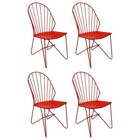 Peachy Four Wire Chairs Sonett By Karl Fostel Erben Austria Vienna Evergreenethics Interior Chair Design Evergreenethicsorg