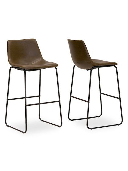 Adan Barstools Set Of 2 By Glamour Home At Gilt Leather