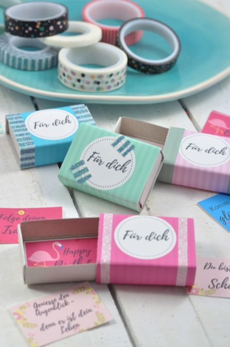 Diy Idee Wunsche In Der Streichholzschachtel Streichholzschachteln Kleine Geschenke Freundin Und Geschenk Beste Freundin