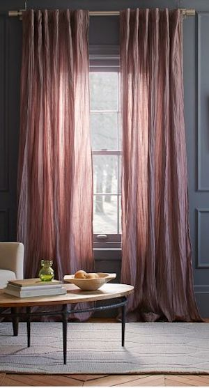 pretty light #pink curtains again dark #grey walls http://rstyle.me/n/i83ivr9te