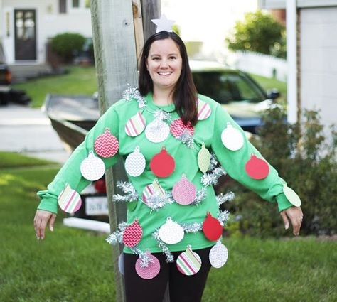 Christmas Halloween Costumes Diy.Quick And Easy Diy Christmas Tree Costume Christmas Tree