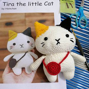 Tira The Little Cat - Crochet PDF pattern, instant download ... | 300x300