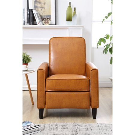 Home Leather Recliner Faux Leather Chair Small Recliners