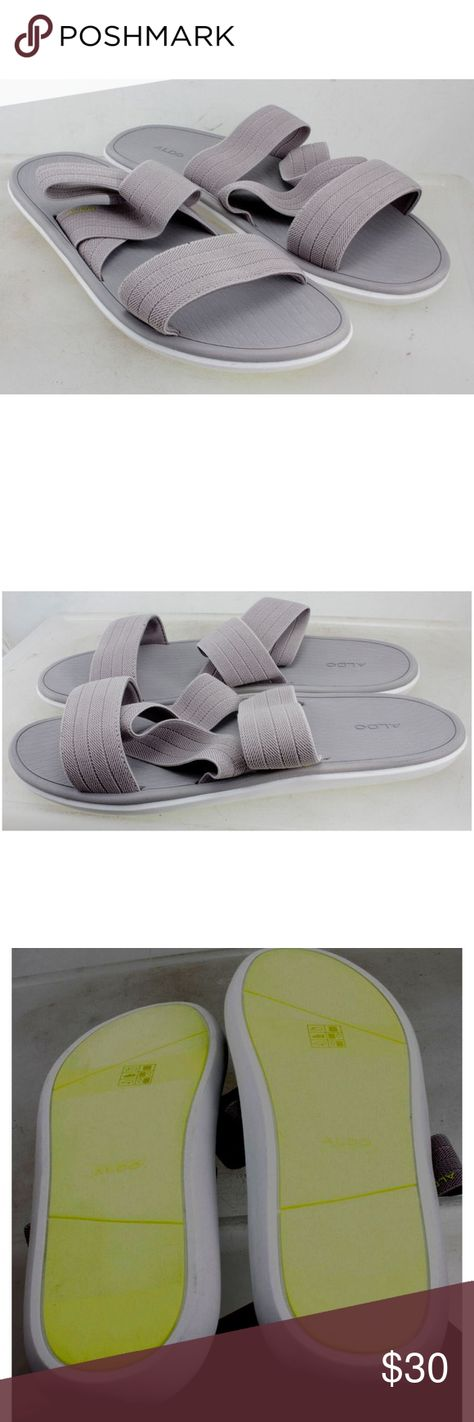 bf75013d8da ALDO Ralinna Flat Sandal Grey ALDO Ralinna Woven Flat Sandal Grey Men s US  13 D UK