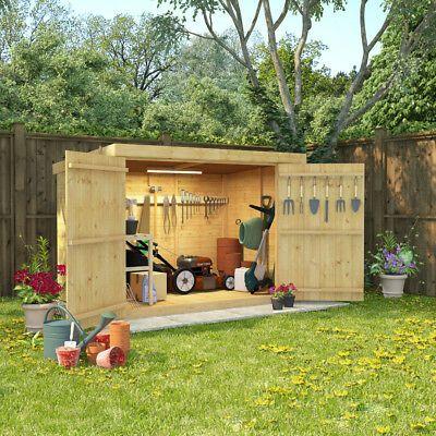 6x4 Tongue And Groove Wooden Shed Pent Bike Log Storage Double Door Roof Felt Wooden Garden Storage Garden Storage Garden Storage Shed