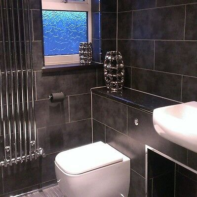 Dark Concrete Tile Effect Bathroom Wall Panels Shower Pvc Dumalock Cladding 8 Pk Bathroom Shower Walls Tile Bathroom Bathroom Wall Tile