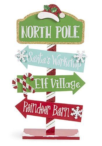 Christmas Arrow Signs.North Pole Direction Arrow Sign Christmas Wall Decor