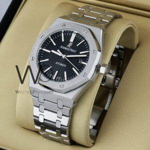 ساعة Audemars Piguet تعمل بعدادات بلون رصاصى وسيرفضى من المعدن Watches Prime Bracelet Watch Rolex Omega Watch
