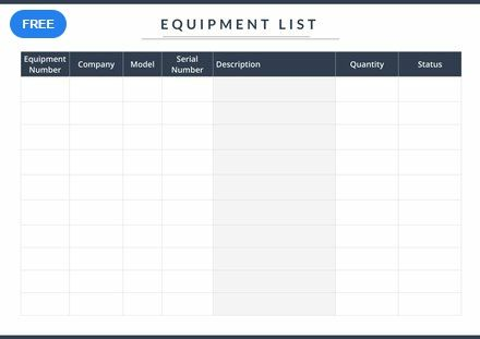 Free Equipment List Template Pdf Word Doc Apple Mac Pages List Template Templates Youtube Channel Ideas