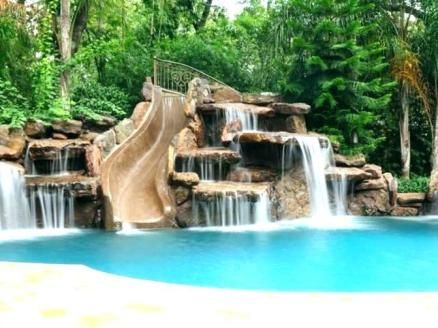 Luxury Pools With Waterfalls Pool Prices Backyard Pool Pool