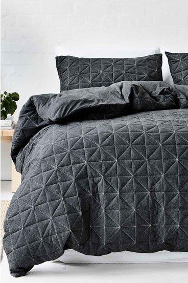 Gains Pender Quilted Quilt Cov Blue Kb Quilt Cover Sets