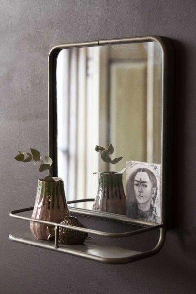 Antique Silver Almost Square Bathroom Mirror With Shelf Bathroom Mirror With Shelf Mirror With Shelf Bathroom Mirror