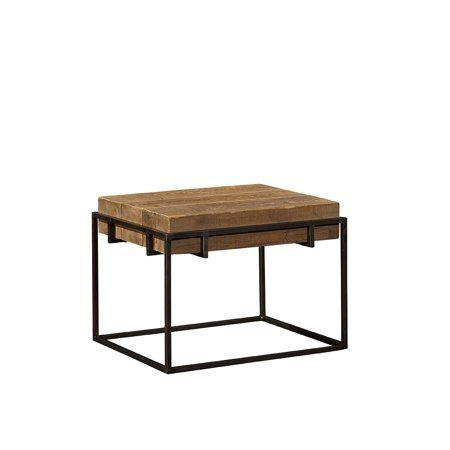 Giacomo End Table Brown Modern Side Table Table End Tables