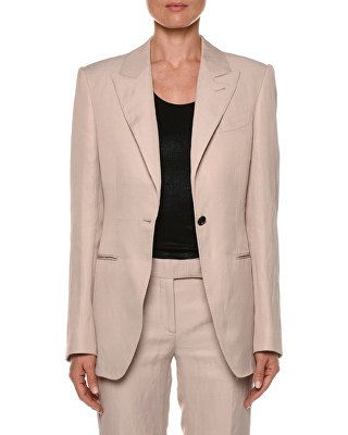 TOM FORD Peak Lapel One Button Jacket | Jacket buttons, Tom