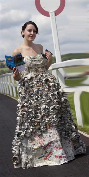 Recycled Newspaper Dress by Treeproductions on DeviantArt