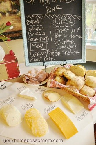 Pinner: Grilled Cheese Party...great idea!