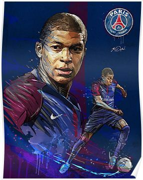 Kylian Mbappe Poster In 2019 Soccer Players Football