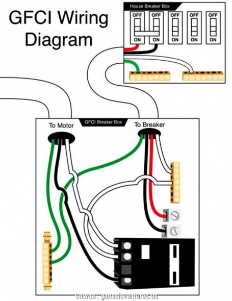 220 volt gfci breaker wiring diagram  gfci electrical