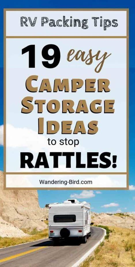 19 Easy Camper Storage Ideas To Stop Rattles In Your Motorhome Camper Storage Motorhome Camper