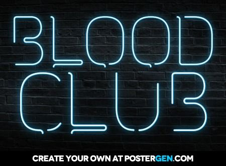 Neon Text Generator | blood | Neon, Neon signs, Texts
