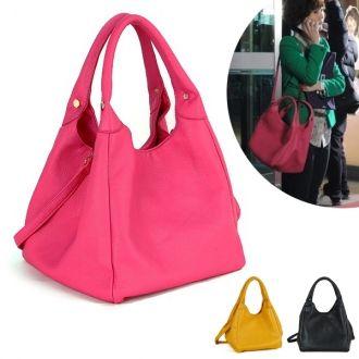 Yellow Pink Black Cute Bogo Bags Purses Women Handbags Faux Leather Fashion  Korean Wave Hallyu Drama Actress d8c2d883dd0de