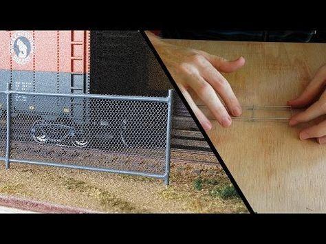 Chain Link Fence Model Railroad Scenery Youtube Model Trains Model Railroad Train