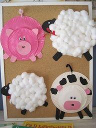 Paper plate farm animals...so cute!