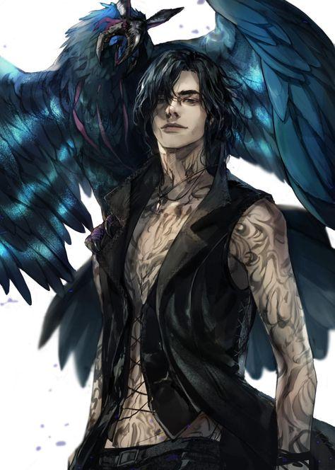 Raven boy. Raven Totem Lunar. #Fantasy character inspiration