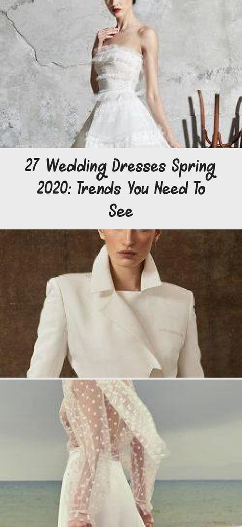 27 Wedding Dresses Spring 2020: Trends You Need To See | Wedding Forward #summerweddingdressesALine #summerweddingdressesLace #Modernsummerweddingdresses #summerweddingdresses2020 #summerweddingdressesLightweight