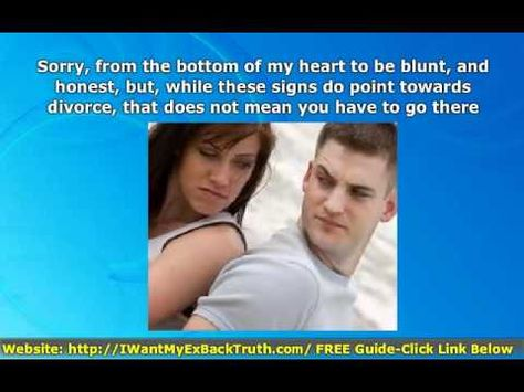 http://iwantmyexbacktruth.com/ Signs YOUR Marriage Is OVER - (Save The Marriage) The signs your marriage is over, or, is it? This should be your # 1 priority right now.