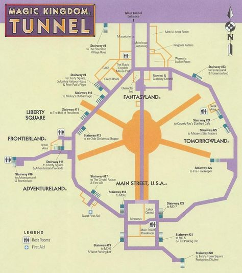 secret tunnels at Disney