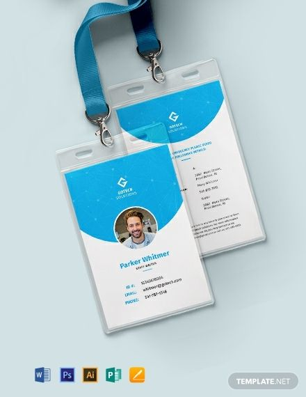 Employee Id Card Template Word Doc Psd Apple Mac Pages Illustrator Publisher Employee Id Card Id Card Template Free Printable Business Cards