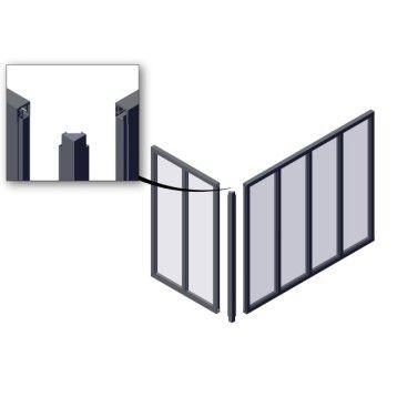Poteau D Angle Pour Verriere En Kit Aluminium Gris Verriere Atelier Verriere Atelier Noir