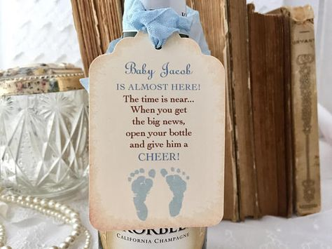 Boy Champagne Baby Tags Baby Mini Wine Bottle Baby Shower