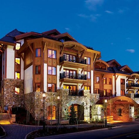 Warm up by the roaring fire pit or in a steaming hot tub at the stunning Sebastian Vail, Colorado.