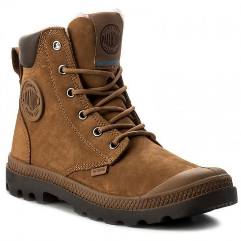 c3a8a6f98899 Turistická obuv PALLADIUM - Pampa Sport Cuff WPS 72992-697-M  Mahogany Chocolate