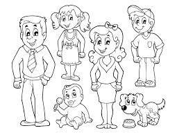 Image Result For Imagen De Familia Para Colorear Familia Dibujos Imagenes De Familia Papa Dibujo