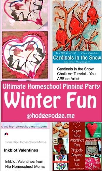 Winter Fun at the Ultimate Homeschool Pinning Party! Come link up your profile, pins and favorite board.