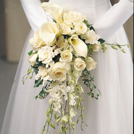 White Lily Wedding Bouquets