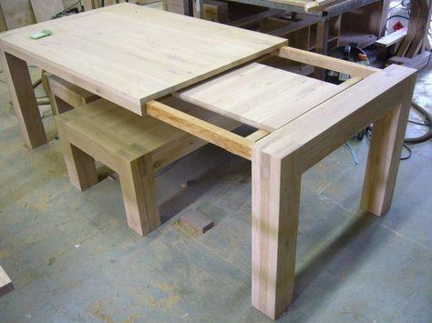 Eettafel Vierkant Uitschuifbaar.Uitschuifbare Eettafels Op Maat Snel Extra Zitplaatsen