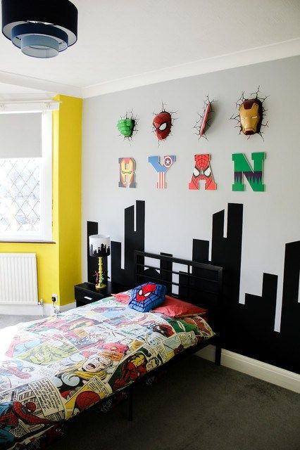 Pin By Shannon Lyne On Room Decor Boys Superhero Bedroom Superhero Room Avengers Room
