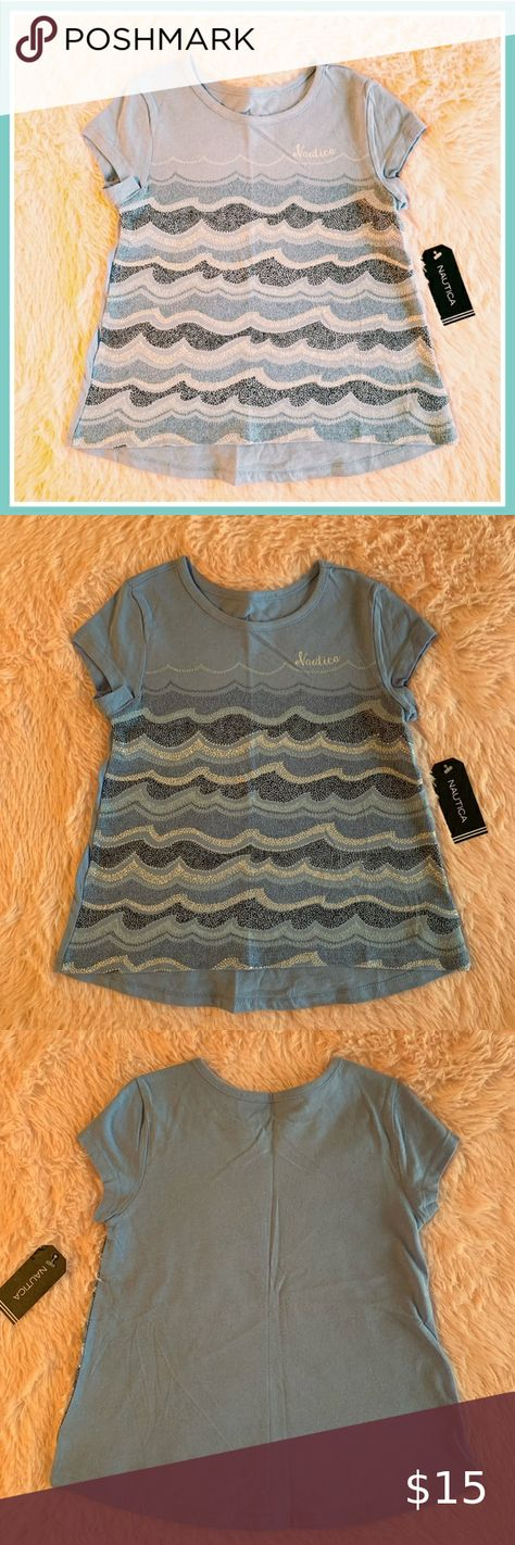 NEW Gymboree Girls Tunic Top Shirt Light Baby Blue Speckled Short Sleeve 14 XL