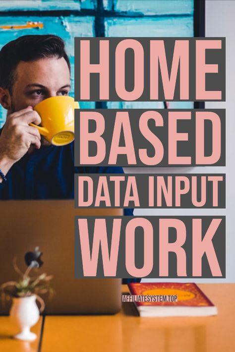 Home Based Data Input Work