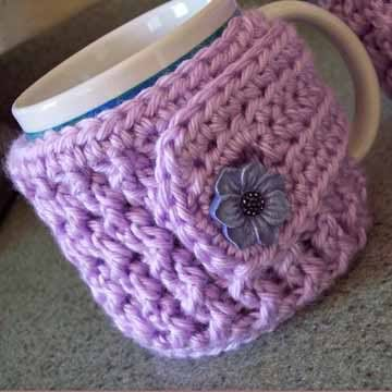 Coffee Mug Cozy Pattern Free Buttons On That Set Its A Four