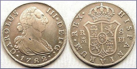 Moneda De 8 Reales De Plata Carlos Iiii Numismatica Visual Moneda Española Monedas Subasta