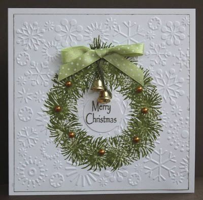 Elegant, sophisticated, handmade Christmas card, using snowflake - blank xmas cards