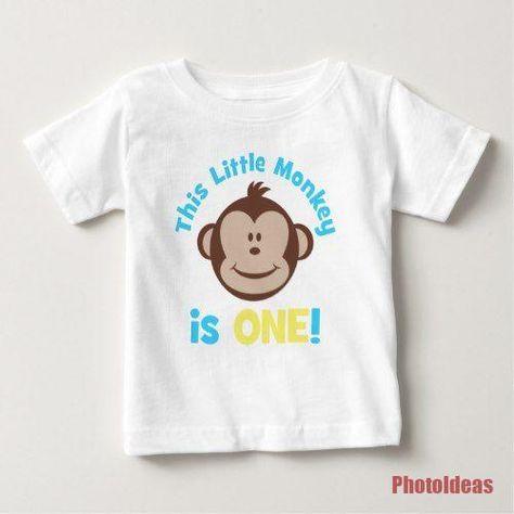Entzuckendes Kleines Mod Affe Jungen 1 Geburtstags Shirt Zazzle